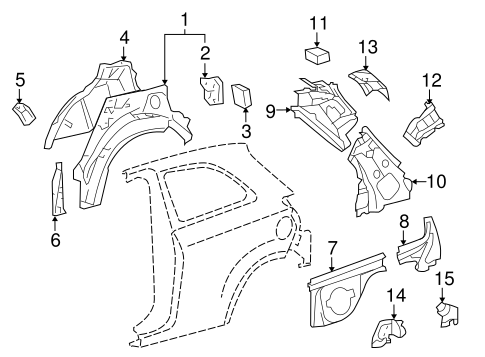 BODY/INNER STRUCTURE for 2016 Toyota Yaris #2