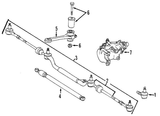 center link assembly - mercedes-benz (202-460-05-05)