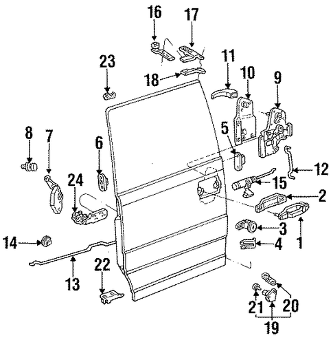 Latch Assembly - Ford (F29Z1126404A)