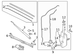 Wiper Arm - Hyundai (98321-S8000)
