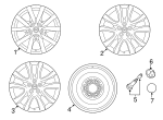 Wheel, Alloy - Mazda (9965-23-7590)