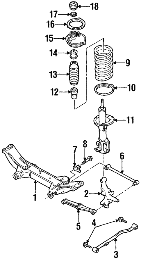 Oem 2002 Ford Escort Rear Suspension Parts