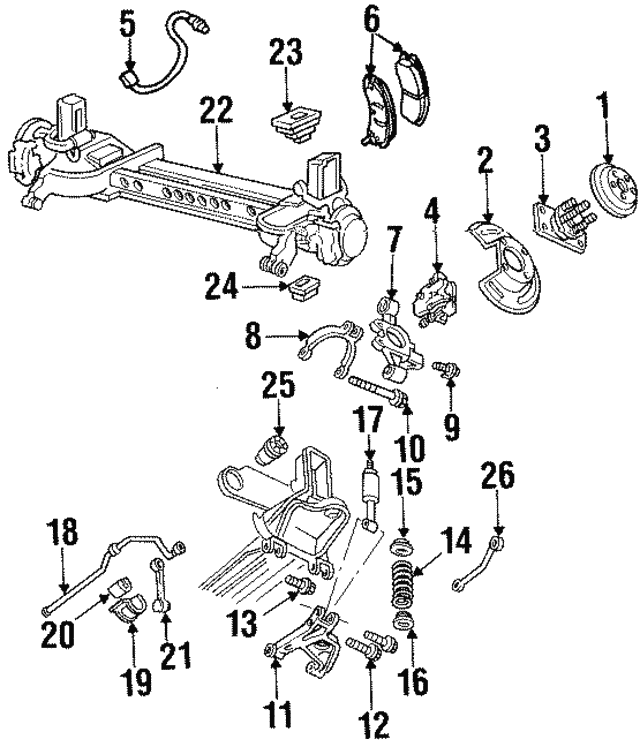 1992 2002 Cadillac Suspension Cross Member Lower Insulator 25678603