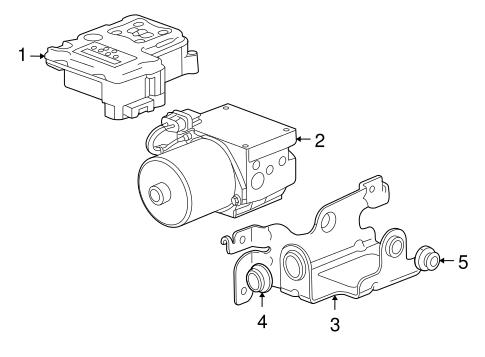 Oem 2005 Buick Rainier Abs Components Parts