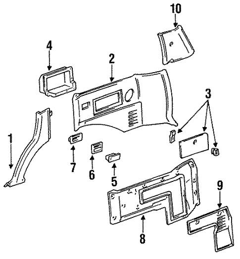 genuine oem quarter panel trim parts for 1992 toyota land