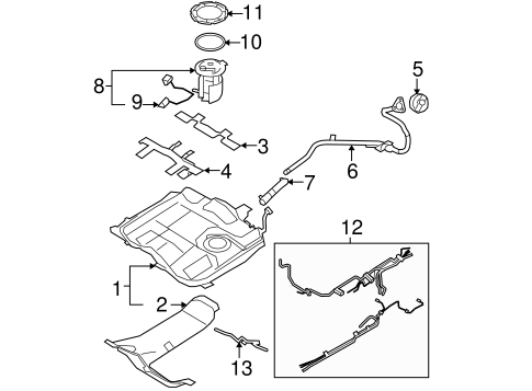 Fuel System/Fuel System Components for 2008 Ford Edge #1