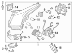 Headlamp Assembly - GM (23331288)
