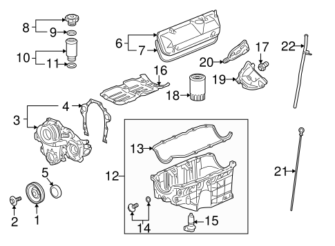 OEM 2009 Chevrolet Impala Engine Parts Parts ...