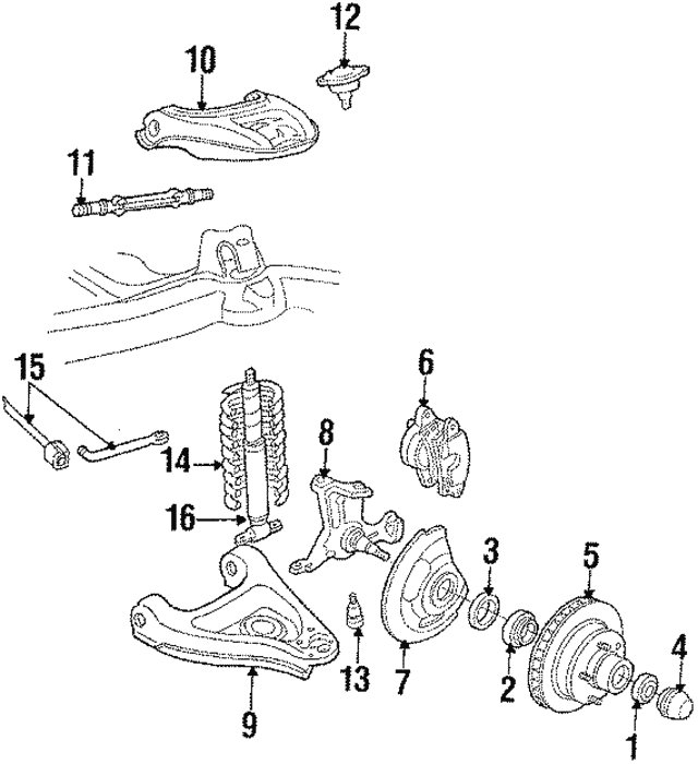 Disc Brake Caliper - GM (19140905)
