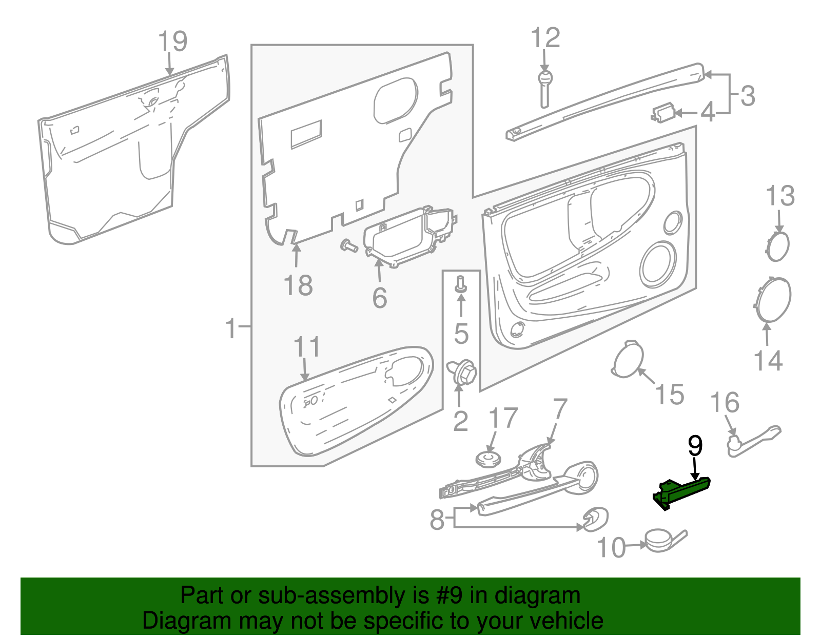 Genuine Chevrolet Ssr Handle Inside 15230633 Free Shipping Ebay Note This Is A Thumbnail Diagram Click On It To Enlarge Thumbnails
