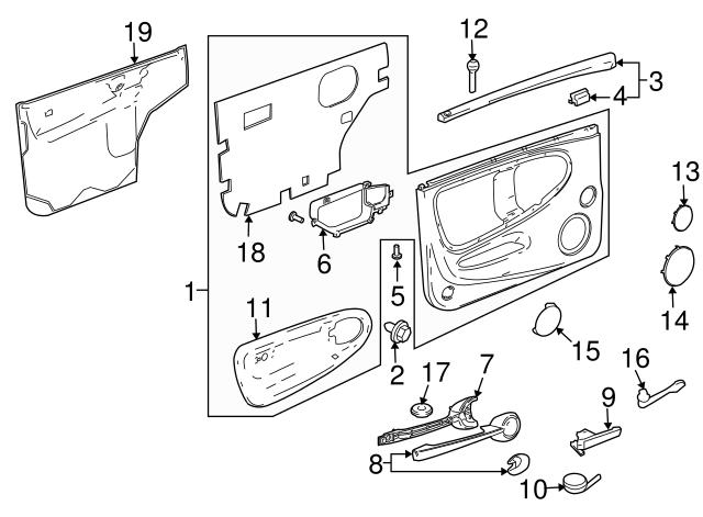 genuine chevrolet ssr handle  inside 15230633