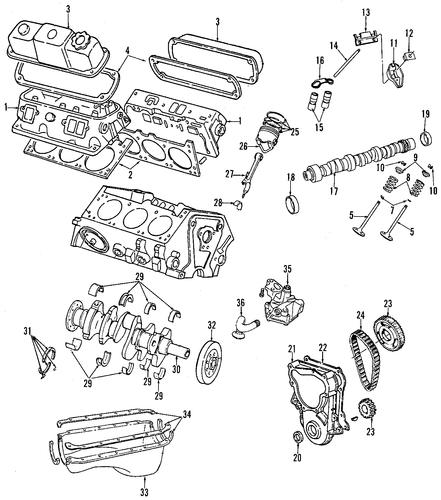 engine for 1996 dodge dakota parts