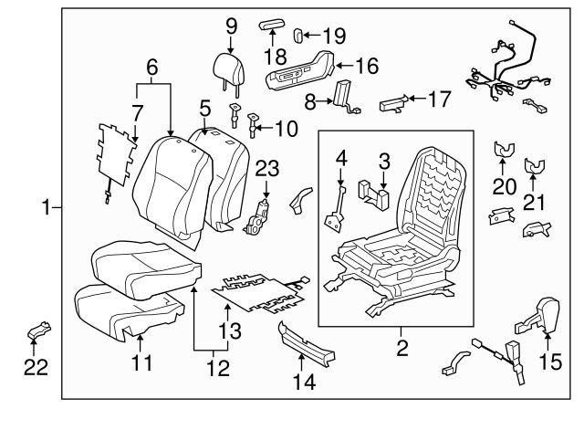 TOYOTA Genuine 71511-48180 Seat Cushion Pad