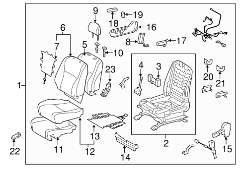 BODY/PASSENGER SEAT COMPONENTS for 2013 Toyota Highlander #1