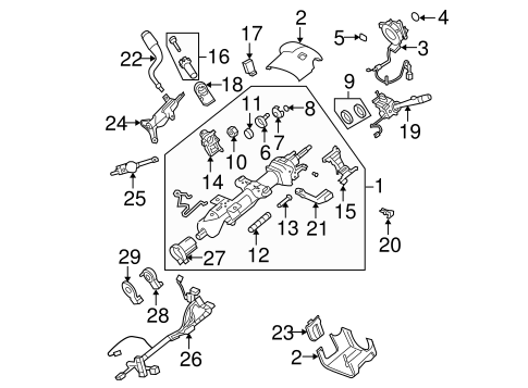 steering column assembly for 2007 chevrolet avalanche | quirkparts  quirk parts