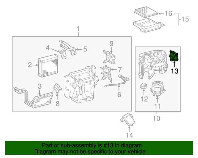 Genuine Toyota 87106-35170 Damper Servo Sub Assembly