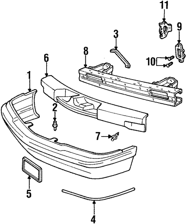 Side Baffle Lower Retainer - GM (10121502)
