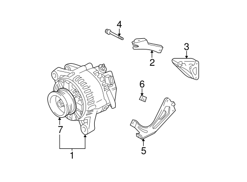 ELECTRICAL/ALTERNATOR for 2001 Toyota Sienna #1