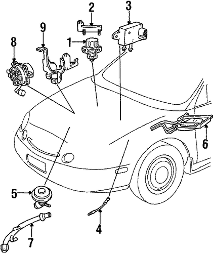 a i r  system for 1999 mercury sable