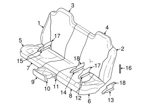 Rear Seat Components For 2001 Dodge Dakota