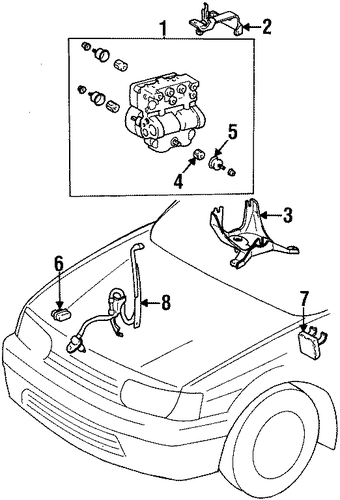 BRAKES/ANTI-LOCK BRAKES for 1997 Toyota Tercel #3
