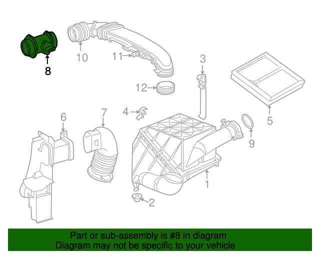 Mass air flow sensor mercedes benz 000 094 09 48 for Mercedes benz parts online shop