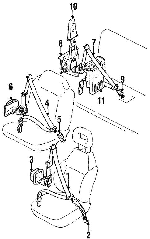 Rear Seat Belts For 1998 Chevrolet Tracker