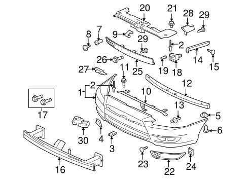 Bumper Components Front For 2008 Mitsubishi Lancer Auto Parts
