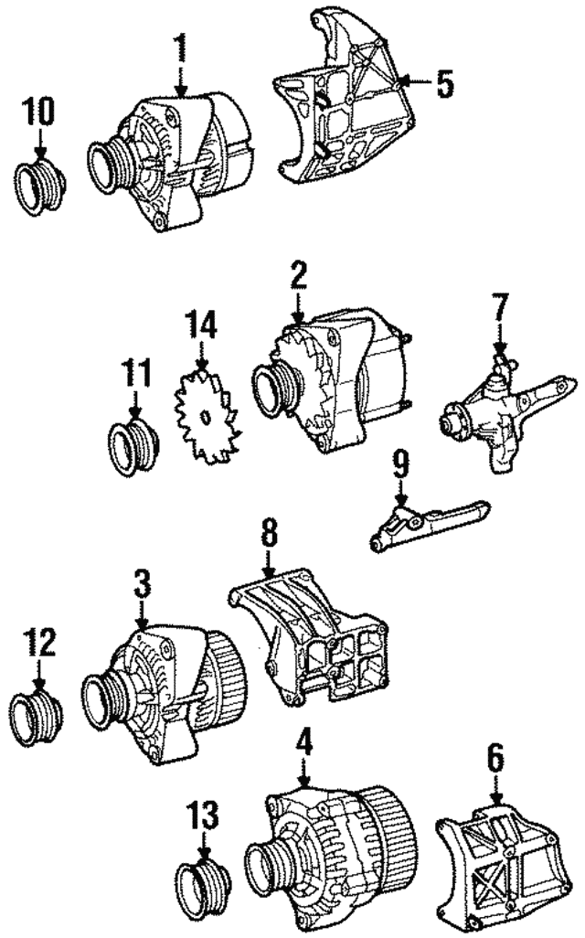 Pulley - Mercedes-Benz (104-155-00-15)