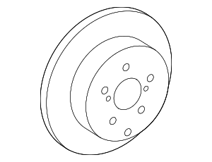 Disc Brake Rotor - Lexus (42431-48090)