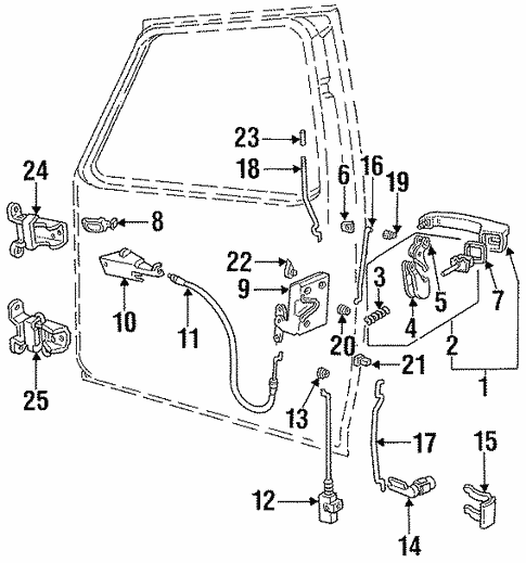 Front Door For 1997 Ford F 350