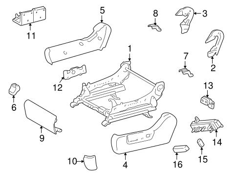 Genuine Oem Tracks Components Parts For 2002 Toyota Highlander