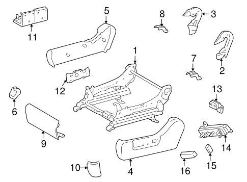 BODY/TRACKS & COMPONENTS for 2003 Toyota Highlander #2