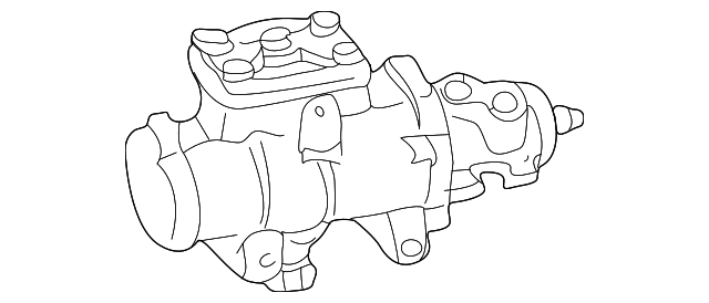 1999 2002 Ford Steering Gear Yc3z 3504 Abrm