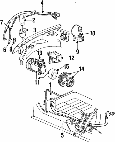 Condenser Compressor Lines For 1996 Dodge Neon