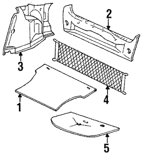Body/Interior Trim - Rear Body for 1997 Ford Contour #2
