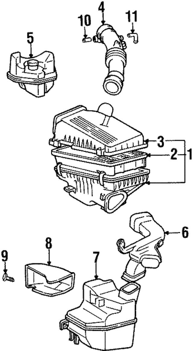 1994 1999 Toyota Celica Air Inlet Clip 90467 05020 01