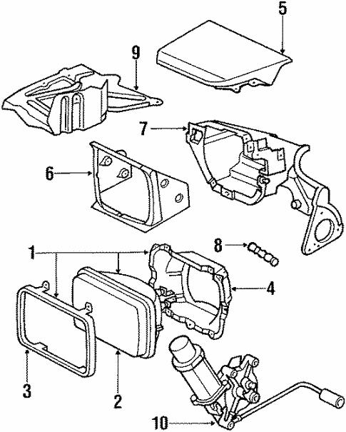 Genuine Oem Headlamp Components Parts For 1990 Toyota Supra Turbo