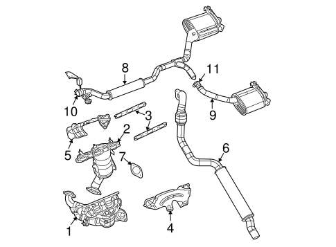 Exhaust Ponents For 2007 Chrysler Pacifica Mymoparparts. Exhaust Systemexhaust Ponents For 2007 Chrysler Pacifica 1. Chrysler. 2007 Chrysler Pacifica Engine Pulley Diagram At Scoala.co