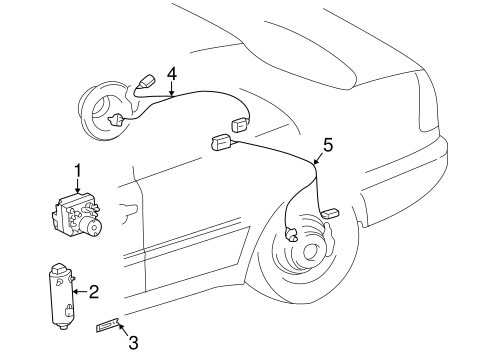 Anti-Lock Brakes for 1999 Mercedes-Benz C 280 #0
