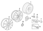 Wheel, Alloy - Volkswagen (1K0-601-025-AG-AX1)