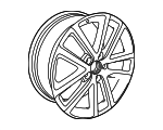 Wheel, Alloy - Volkswagen (5K0-601-025-P-88Z)