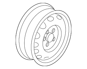 Wheel, Alloy - Volkswagen (5C0-601-025-AM-8Z8)
