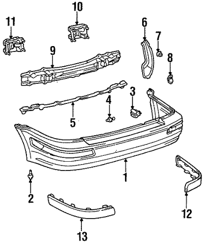 BODY/BUMPER & COMPONENTS - REAR for 1997 Toyota Tercel #1