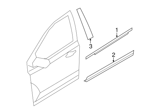 Body/Exterior Trim - Front Door for 2013 Ford Edge #1