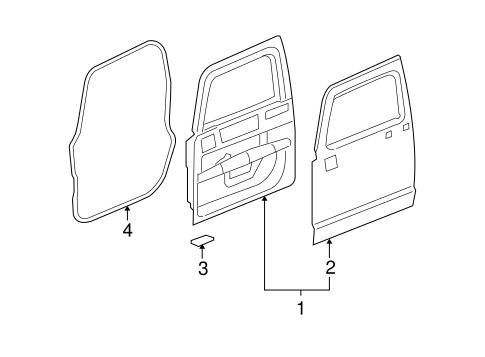 Oem 2006 Hummer H3 Door Components Parts