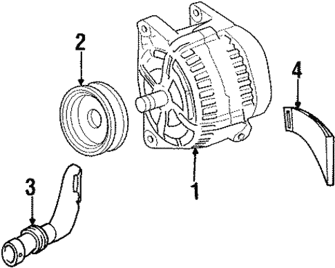 Alternator for 1999 Cadillac Catera #1