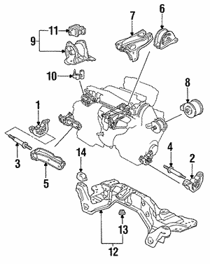 Bracket, Transmission Mounting(AT)