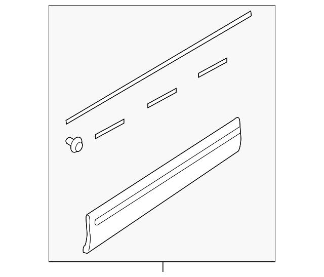 Genuine Subaru Molding Assembly Clip 91059FC030