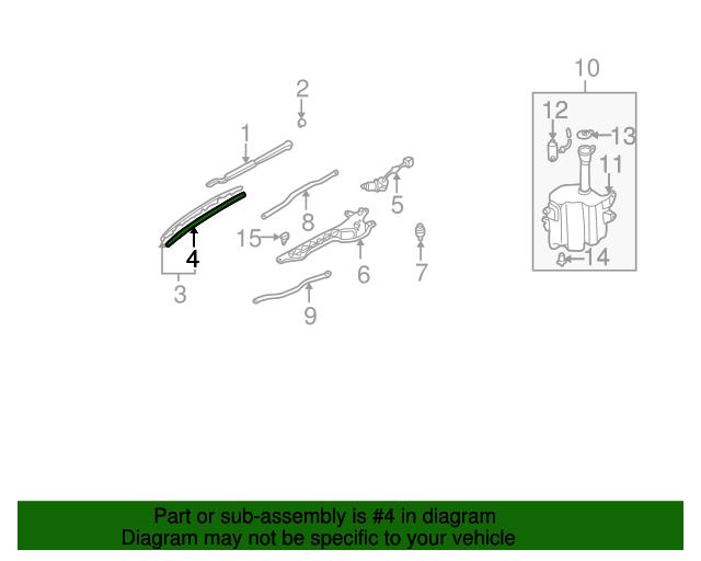 Mazda D061-67-331A Windshield Wiper Blade Refill